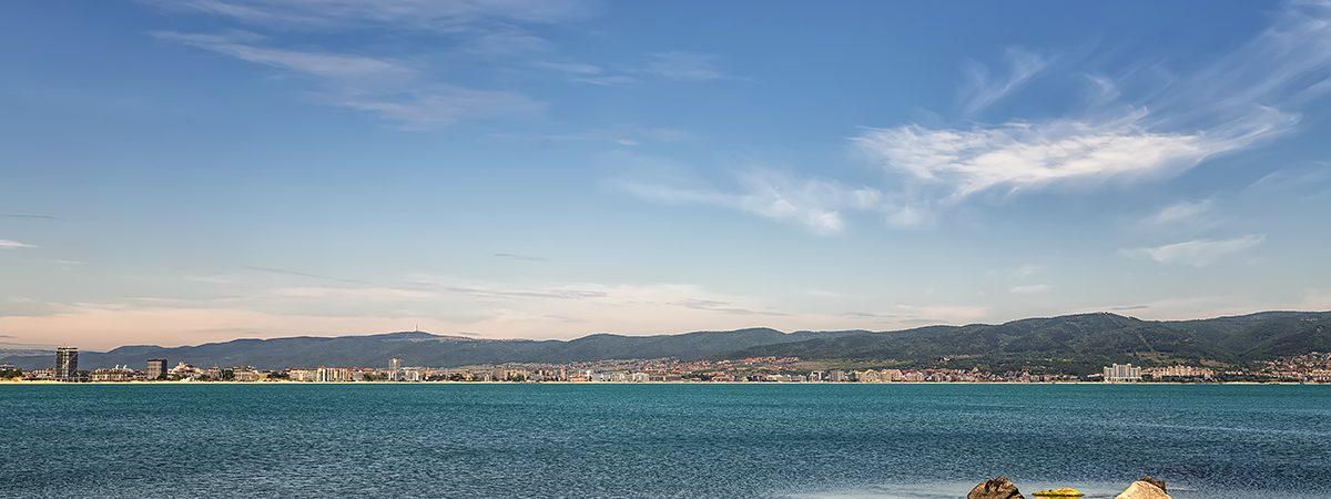 Scenic view of sea bay